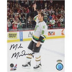 Mike Modano Signed Stars 8x10 Photo (Schwartz COA)
