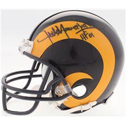 """Jack Youngblood Signed Rams Mini Helmet Inscribed """"HF 01"""" (Schwartz COA)"""
