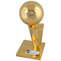 "Larry Bird Signed ""3x NBA Champion"" Celtics Trophy (Fanatics Hologram)"