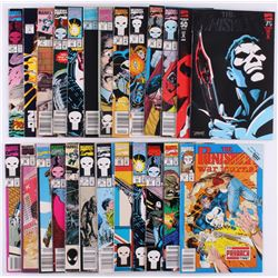"""Lot of (25) Marvel 1986-1993 """"The Punisher"""" Comic Books with """"War Journal""""  """"Eurohit"""""""