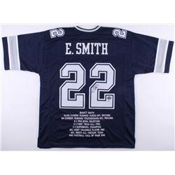 Emmitt Smith Signed Cowboys Career Highlight Stat Jersey (Beckett COA  PROVA Hologram)