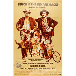 """Paul Newman Signed """"Butch Cassidy and the Sundance Kid"""" 30x40 Movie Poster (JSA LOA)"""
