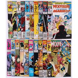 """Lot of (21) Marvel Comic Books with """"Wolverine"""""""