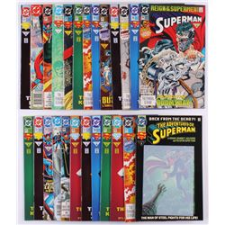 """Lot of (25) 1987-1992 DC """"Superman"""" Comic Books with """"Action Comics"""""""
