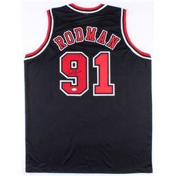 Dennis Rodman Signed Bulls Jersey (JSA Hologram)