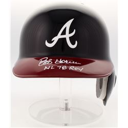 "Bob Horner Signed Braves Authentic Full-Size Batting Helmet Inscribed ""NL 78 ROY"" (JSA COA)"