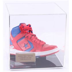 "Julius ""Dr. J"" Erving Signed Converse Weapon Evo Mid Shoe with Display Case (PSA COA)"