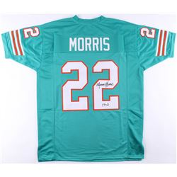 Mercury Morris Signed Dolphins Jersey Inscribed  17-0  (JSA COA)
