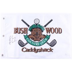 "Chevy Chase Signed ""Caddyshack"" Golf Pin Flag (JSA COA)"