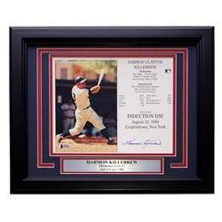 Harmon Killebrew Signed Twins 22x27 Custom Framed Career Highlight Stat Card Display (Beckett COA)