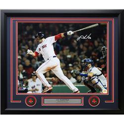 J. D. Martinez Signed Red Sox 22x27 Custom Framed Photo Display (Steiner COA)