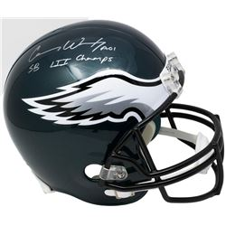 "Carson Wentz Signed Eagles Full-Size Helmet Inscribed ""SB LII Champs"" (Fanatics)"
