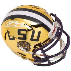 Odell Beckham Jr. Signed LSU Tigers Riddell Chrome Speed Mini Helmet (JSA COA)