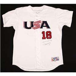 Derek Jeter  Johnny Damon Signed Team USA Limited Edition Majestic Jersey (Steiner Hologram)