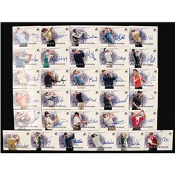 2002 SP Game Used Scorecard Signatures Near Complete Set of (31/39) Golf Cards with #SSBL Bernhard L