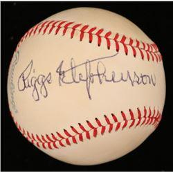 Riggs Stephenson Signed OAL Baseball (JSA COA)