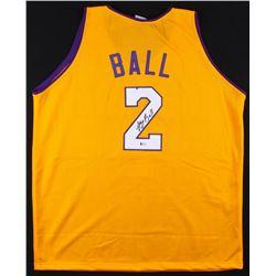 Lonzo Ball Signed Lakers Jersey (Beckett COA)