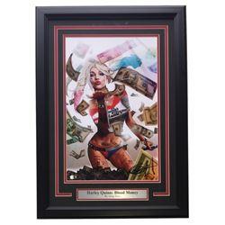 "Greg Horn Signed ""Harley Quinn: Blood Money"" 17x25 Custom Framed Lithograph (Sports Integrity COA)"