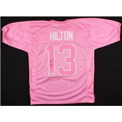 T.Y. Hilton Signed Colts Breast Cancer Awareness Jersey (JSA COA)