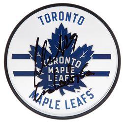 "William Nylander Signed Maple Leafs Logo Acrylic Hockey Puck Inscribed ""Go Leafs Go"" (UDA COA)"