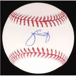 Julio Urias Signed OML Baseball (Schwartz COA)