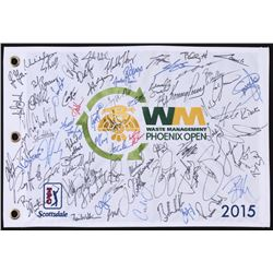 2015 TPG Waste Management Phoenix Open Pin Flag Signed by (60) with Jordan Spieth, Rickie Fowler, Ke