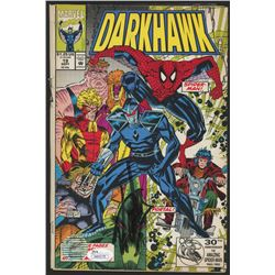 "Stan Lee Signed 1992 ""Darkhawk"" Issue #19 Marvel Comic Book (JSA COA  Lee Hologram)"
