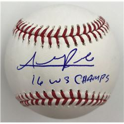 Addison Russell Signed Baseball Inscribed  16 WS Champs  (MLB)