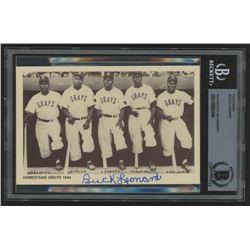 Buck Leonard Signed Negro League Legends Postcard (BGS Encapsulated)
