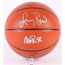 Magic Johnson  Larry Bird Signed Game Ball Series Basketball (Beckett COA  Bird Hologram)