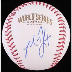 Madison Bumgarne Signed 2014 World Series Baseball (JSA COA)