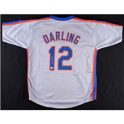 Ron Darling Signed Mets Throwback Jersey (Diamond Legends COA)