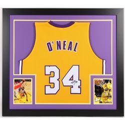 Shaquille O'Neal Signed Lakers 31x35 Custom Framed Jersey (JSA Hologram)