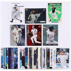 Lot of (50) Derek Jeter Baseball Cards with 2001 E-X #2, 2001 SP Authentic #36, 2000 Black Diamond R
