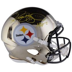 "Jerome Bettis Signed Steelers Chrome Full-Size Authentic On-Field Speed Helmet Inscribed ""HOF 15"" (F"