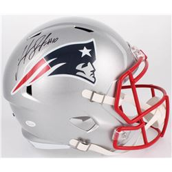 Josh Gordon Signed Patriots Full-Size Speed Helmet (JSA COA)