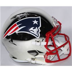 Sony Michel Signed Patriots Full-Size Chrome Speed Helmet (Beckett COA)