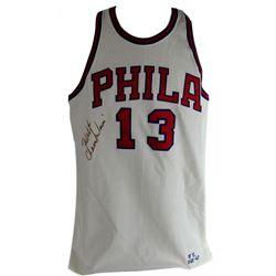 Wilt Chamberlain Signed 76ers Mitchell  Ness Jersey (JSA LOA)