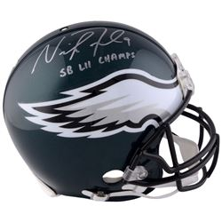 "Nick Foles Signed Eagles Authentic On-Field Speed Full-Size Helmet Inscribed ""SB LII Champs"" (Fanati"