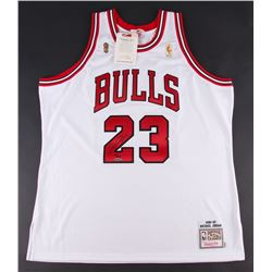 Michael Jordan Signed Limited Edition Bulls Mitchell  Ness Jersey (UDA COA)