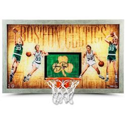 "Larry Bird Signed LE Celtics ""Larry Legend"" 18.5x30.5 Custom Framed Backboard Display (UDA COA)"