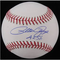 "Pete Rose Signed OML Baseball Inscribed ""4,256"" (JSA COA)"