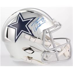 Jason Witten Signed Cowboys Full-Size Chrome Speed Helmet (JSA COA  Witten Hologram)