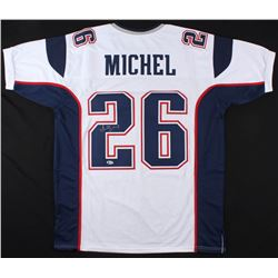 Sony Michel Signed Patriots Jersey (Beckett COA)