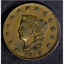 1819 LARGE CENT, XF/AU