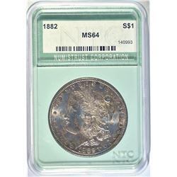 1882 MORGAN DOLLAR NTC CH/GEM BU