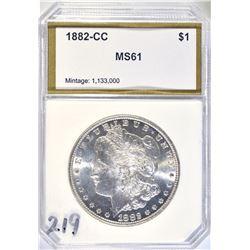 1882-CC MORGAN DOLLAR PCI BU