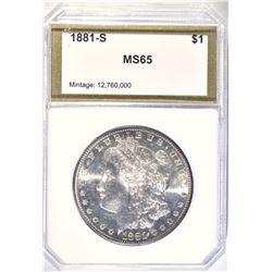 1881-S MORGAN DOLLAR PCI GEM BU