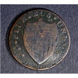 1786 NEW JERSEY NARROW SHIELD VF