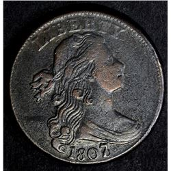 1807/6 LARGE CENT, XF